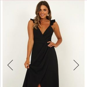 Showpo Black Maxi Dress